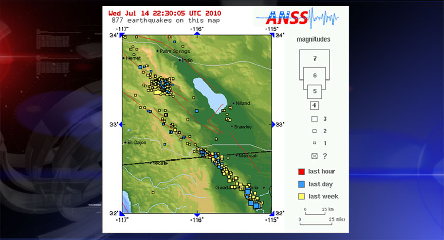 US: Nearly 1,000 Small Quakes Since July 7th 5.4 Magnitude Earthquake - Southern California
