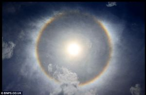 sun dog halo ice crystals