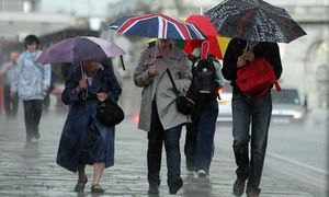 Heavy rainfall England