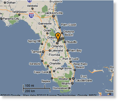 Winter Park Florida Map US: Couple See Fighter Jets Chasing 3 White or Silver Objects over