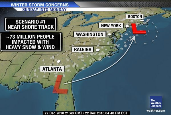 weather map of east coast Dangerous East Coast Christmas Weekend Winter Storm Earth weather map of east coast