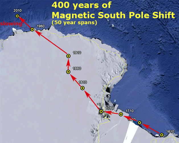 Pole Shift North Races South Crawls Earth Changes Sottnet - Us navy map after pole shift