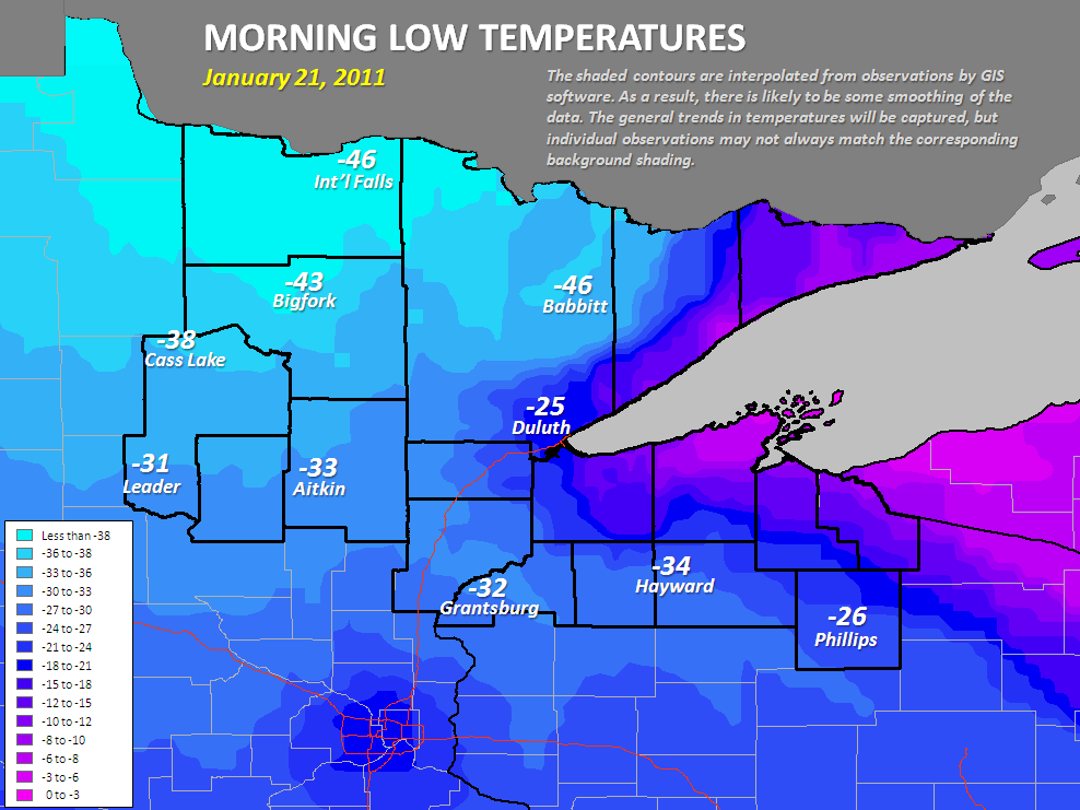 New record cold temperatures in Minnesota