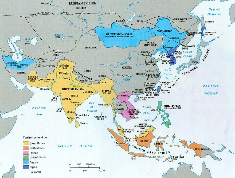european justification of colonization of asia and The principle justification offered by the europeans for their colonization of asia & africa was the moral and technological superiority of the western world as the europeans saw it, the spread of the european way of life would substantially increase living standards for the colonized.
