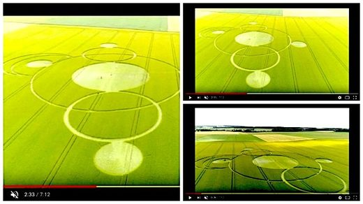 Giant crop circles appear overnight in French field