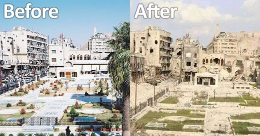before after syria