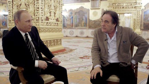 Oliver Stone's film about Putin must mean the filmmaker has a weak spot for dictators, right?