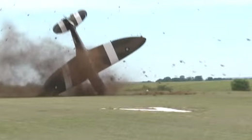 World War II Spitfire crashes during takeoff at airshow in France