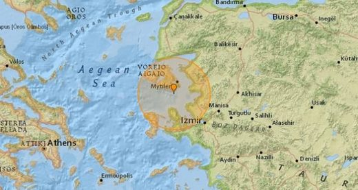 Two earthquakes rattle Aegean Sea off western Turkey