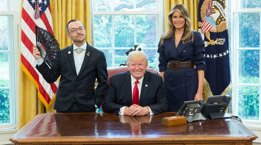 Openly gay teacher of the year's photo with Trump becomes 'instant viral hit'