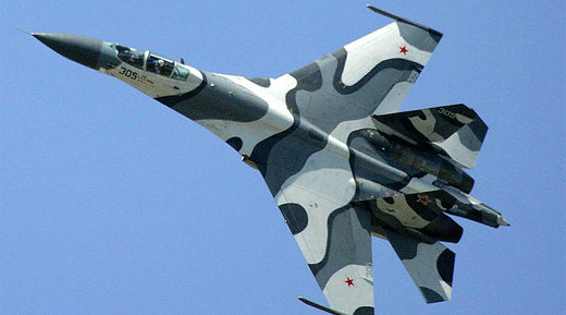 Russian Sukhoi SU-27 fighter jet