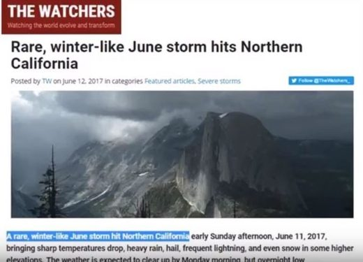 rare California winter storm