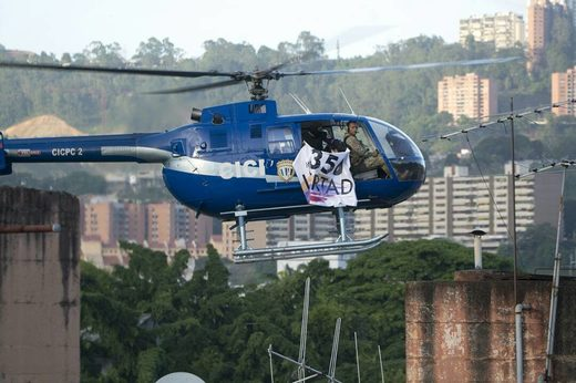 Venezuelan Opposition caught with explosives as helicopter hijacker appears in Caracas