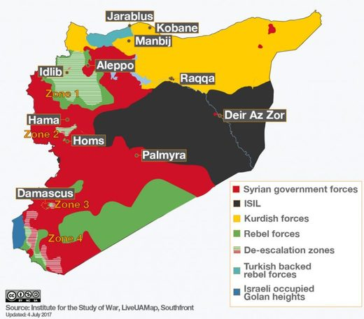 Syria map factions