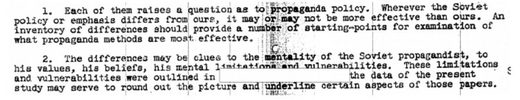 CIA's 1951 listicle comparing U.S and Soviet Propaganda