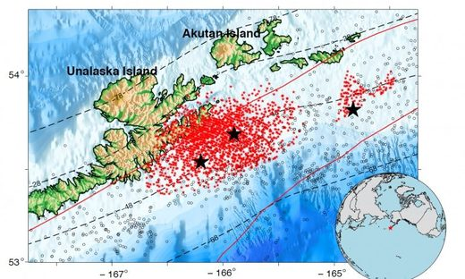 Geologists: Slow earthquakes occur continuously in the Alaska-Aleutian subduction zone