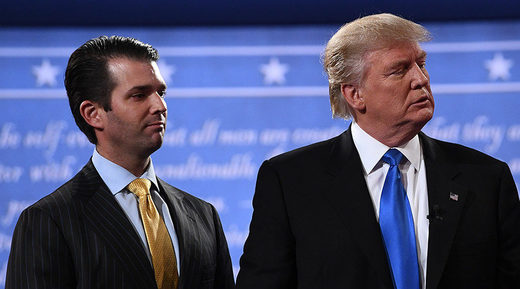 Trump Jr. and Trump Sr.