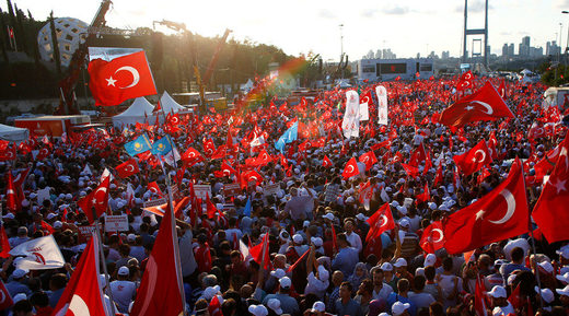rally in istanbul turkey for coup victory