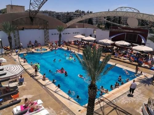Andalusia Swimming Pool in Aleppo, Summer 2017