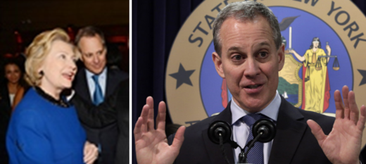 NY Attorney-General Schneiderman with Clinton