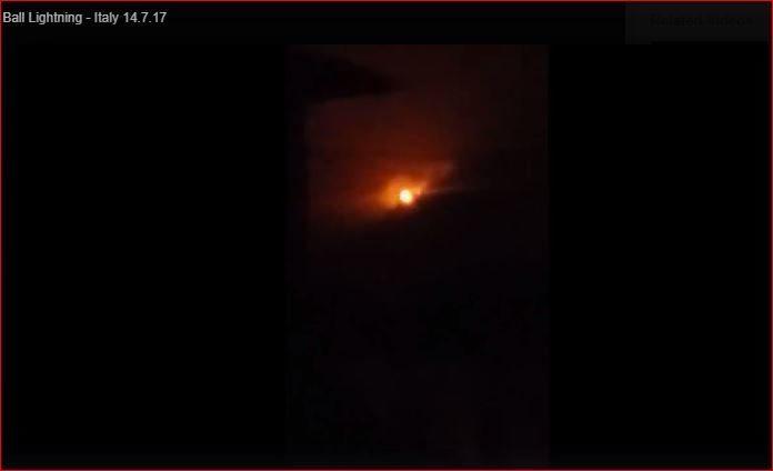 rare ball lightning captured over bergamo italy earth changes