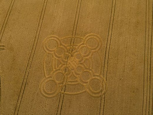 'Fidget spinner' crop circle appears in West Sussex
