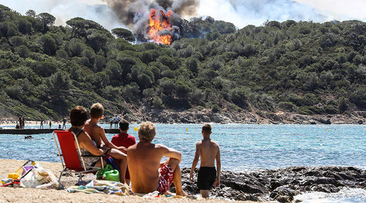 View France wildfires Saint-Tropez