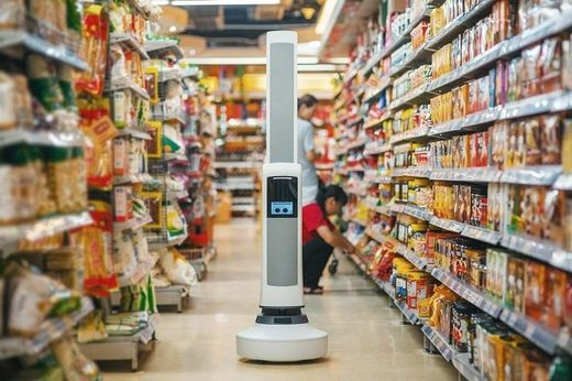 Tally grocery stocking robot