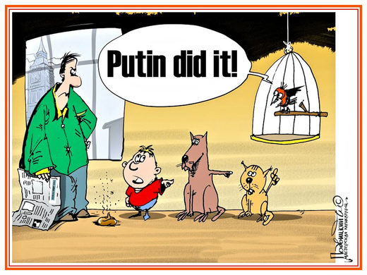 Putin did it! He pressed the red button!