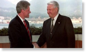 Clinton and Yeltsin
