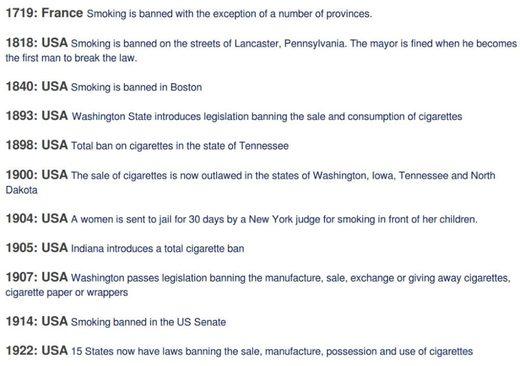smoking bans already tried scr - Tobacco - Smokin' the propaganda peddlers