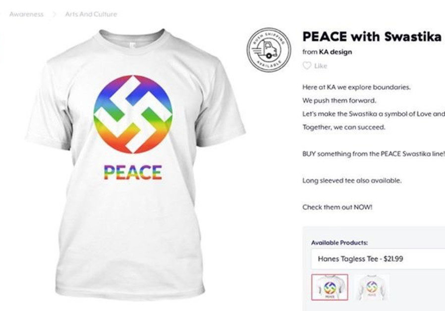 Us Based T Shirt Company Rebrands Swastika As Symbol Of Love And