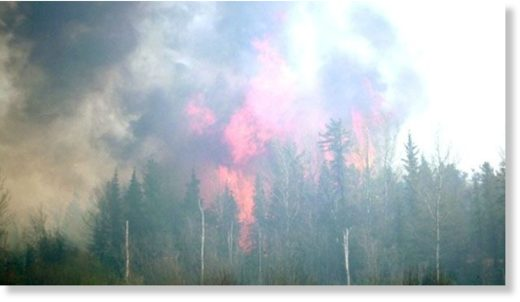A forest fire near Norway House, Man. is shown in this photo from 2008.