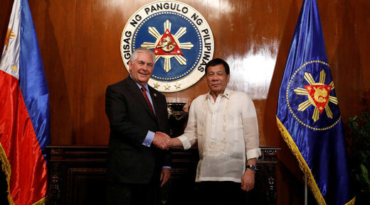 Rex Tillerson and Rodrigo Duterte