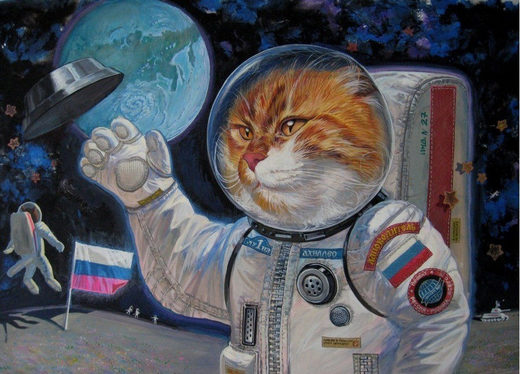 Cat cosmonaut