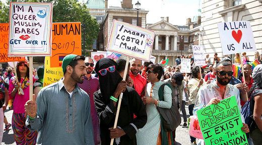 Muslim LGBT protest rally