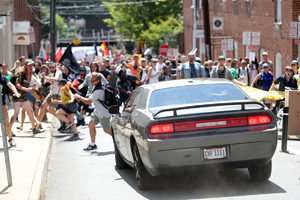 Charlottesville car crowd