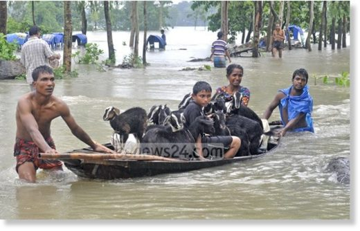 Nine more flood-related deaths were reported in northern Bangladesh on Monday.