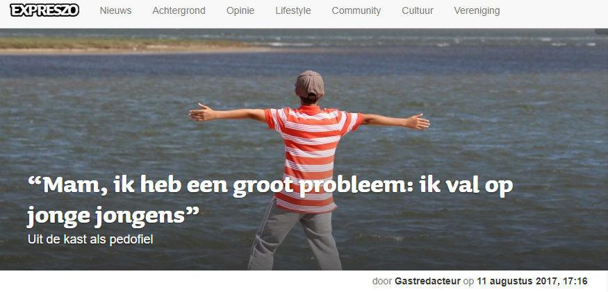 Lgbtqiappedophilia Top Dutch Gay Publication Publishes