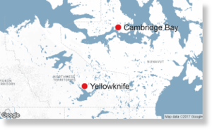 The hamlet of Cambridge Bay is located on Victoria Island in the Kitikmeot Region of Nunavut