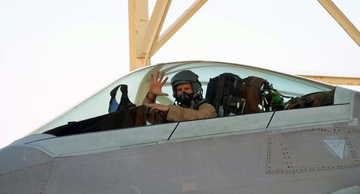 US F-22 fighter pilot
