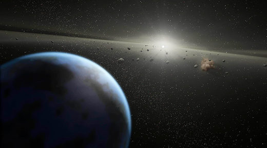 Asteroid artist conception