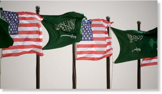 Saudi US flags