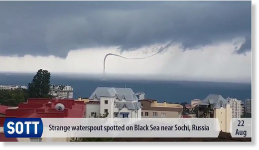 waterspout black sea August 2017
