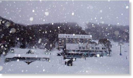 Another icy winter blast at Falls Creek on Thursday, in the midst of spring.
