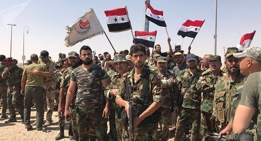 Troops of the Syrian 5th Army Corps