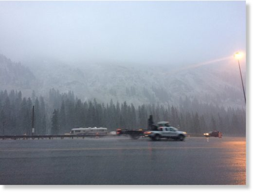 Snow at Eisenhower Tunnel.