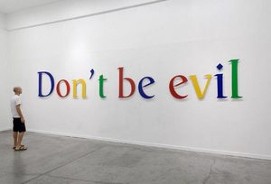 google don't be evil