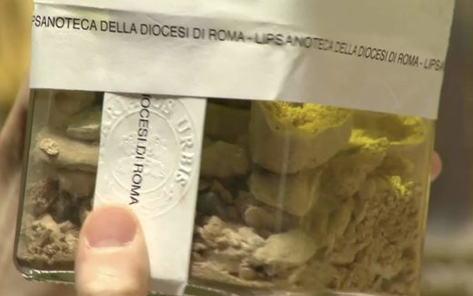 bone fragments st. peter discovered Rome