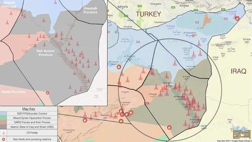 Eastern Syria oil fields